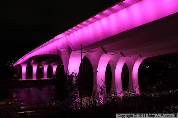 The I 35w Bridge Light Shows