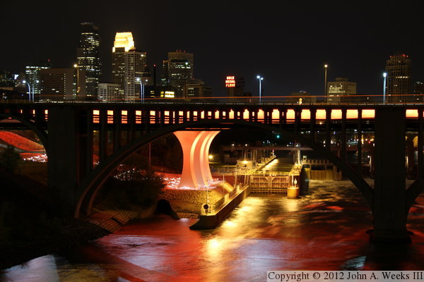 The I 35w Bridge In Safety Orange
