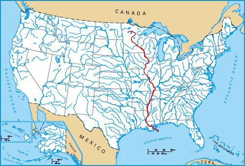 Mississippi River Map