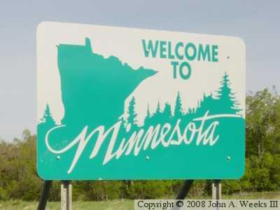 Minnesota State Line Signs