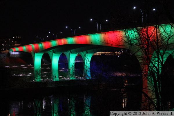 The I 35w Bridge On Christmas