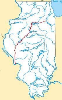 The Bridges And Structures Of The Illinois River - Map of illinois rivers