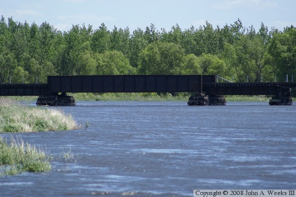 bnsf railroad bridge  appleton  mn